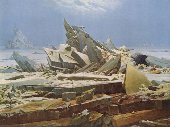 Caspar David Friedrich,  'The Sea of Ice' (1824)