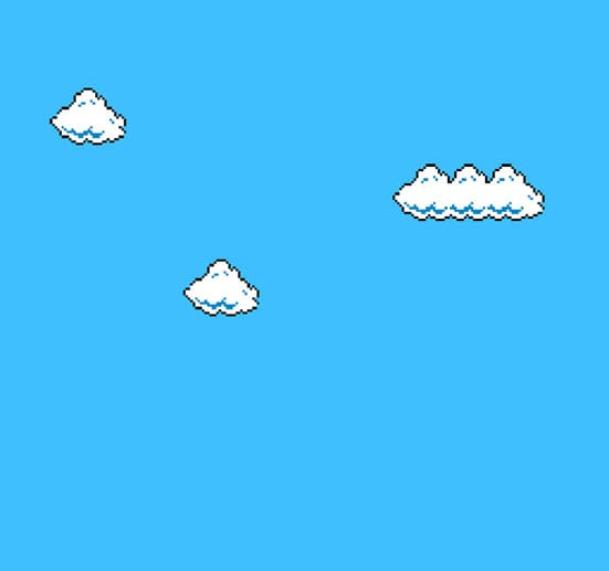 'Super Mario Clouds', 2002, Cory Arcangel