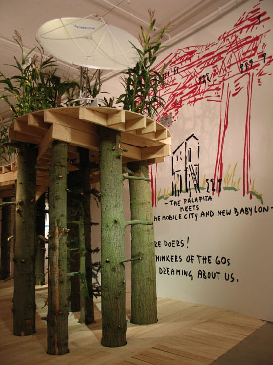 Marjetica Potrc: New Commission —  Marjetica Potrc Forest Rising  Courtesy Barbican Art Gallery  (c) Lyndon Douglas