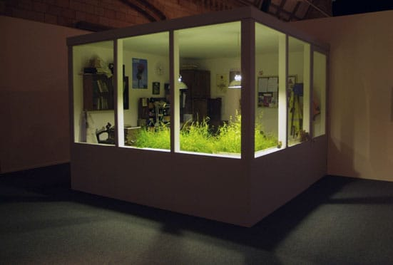 Mark Dion: Systema Metropolis — Systema Metropolis Fieldwork 2 A Recreated Lab with Turf Samples from the Olympic Park Development Site C Mark Dion and Natural History Museum