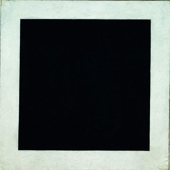From Russia: French and Russian Master Paintings 1870 - 1925 from Moscow and St. Petersburg —  Kazimir Malevich Black Square, c. 1923 Oil on canvas  (106 x 106 cm) The State Russian Museum, St Petersburg Photo (c) The State Russian Museum, St Petersburg