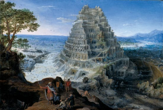 Babylon: Myth and Reality — The Tower of Babel, 1595, Oil  on panel. Artist- Lucas van Valckenborch (Inv. No. MRM M31) © Mittelrhein-Museum Koblenz
