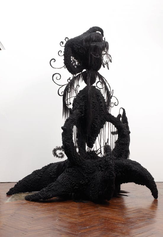 Bloomberg New Contemporaries 2008 — Naomi St Clair-Clarke The Unconscious Significance of Hair: QueenHuman hair, synthetic hair, stockinette, glue, thread, steel, chickenwire, wadding, papier mâché 300 x 240 x 270cm 2007