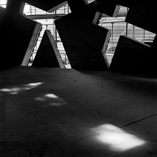 Constructing Worlds:  Photography and Architecture in the Modern Age  — Hélène BinetJewish Museum Berlin, Daniel Libeskind, Untitled 9, July 1997. Courtesy of Hélène Binet