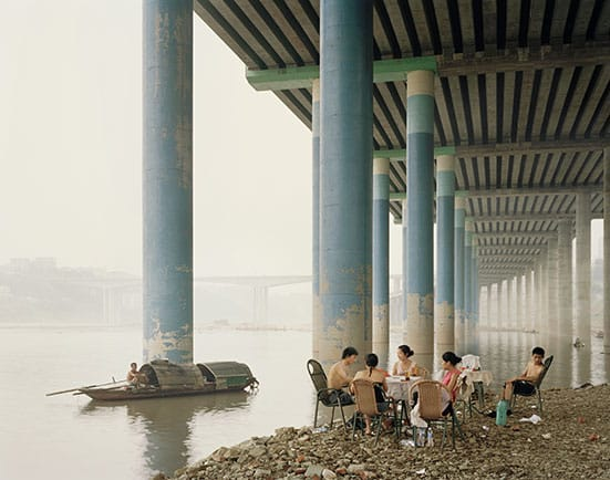 Constructing Worlds:  Photography and Architecture in the Modern Age  — Nadav KanderChongqing IV (Sunday Picnic), Chongqing Municipality, 2006© Nadav Kander, courtesy Flowers Gallery.