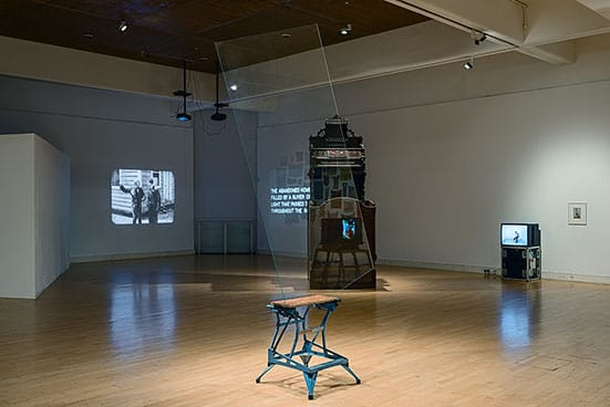 Installation View: The World Turned Upside Down – Buster Keaton, Sculpture and the AbsurdMead Gallery, Warwick Art Centre, 4 October – 14 December 2013.