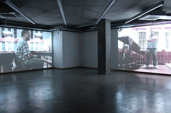 Karl Ingar RøysBurmese Days2014Two-channel video installation 17 minutes, with sound Courtesy the artistInstallation View at John Jones Project Space