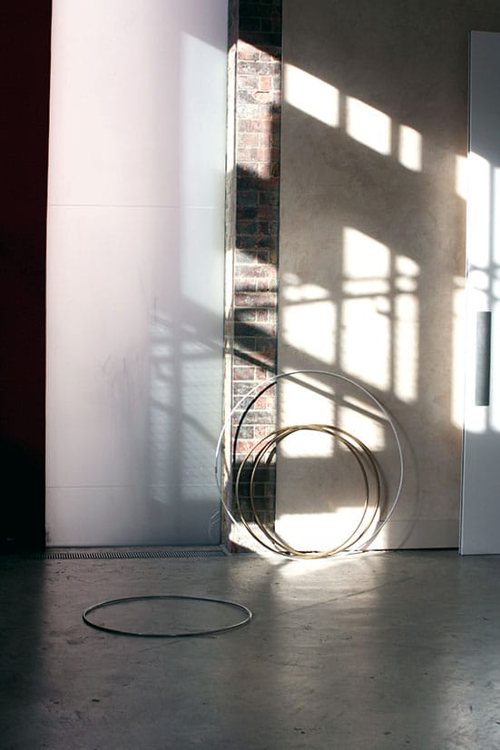 Lilah Fowler, Hoops, installation view at Siobhan Davies Studios