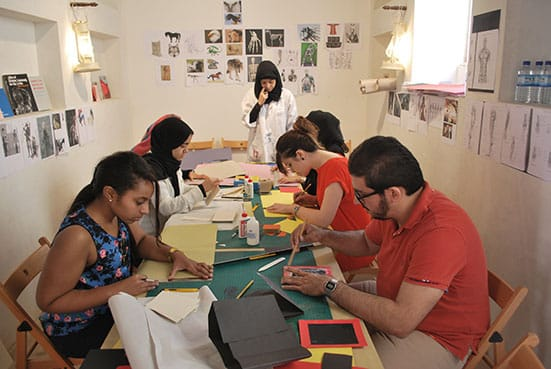 Bookbinding for beginners workshop by Salama Nasib