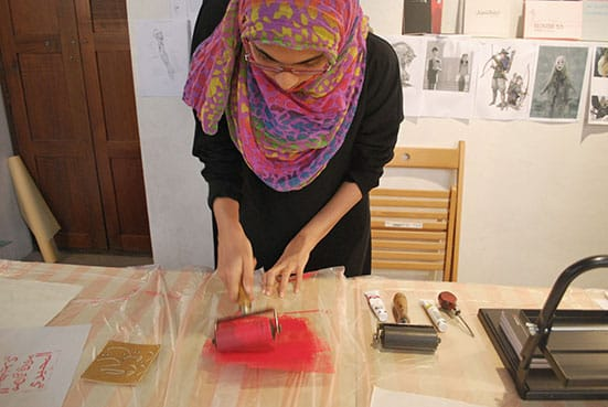 Stamping Kufi Workshop by Najla Al Bassam