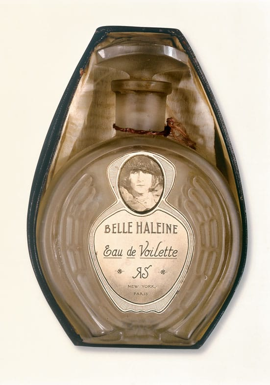Marcel Duchamp Belle Haleine: Eau de Voilette (Beautiful Breath: Veil Water), 1921 Assisted readymade: Rigaud perfume bottle with label created by Marcel Duchamp and Man Ray in original box; inscribed on back of box: Rrose / Sélavy / 1921 Private collection © Succession Marcel Duchamp / VG Bild-Kunst, Bonn 2011 © Man Ray Trust, Paris / VG Bild-Kunst, Bonn 2011