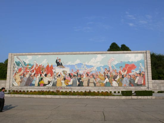 Kim Il Sung Square, Central Pyongyang. Photograph: NR