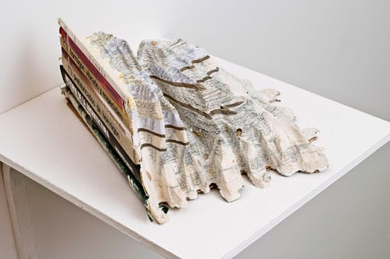 Ishmael Randall-WeeksMaquette for Landscape, 2010Carved books, wood