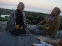 Lucy Lippard and Geoffrey Farmer on the beach at FalmouthPhoto courtesy of Tacita Dean